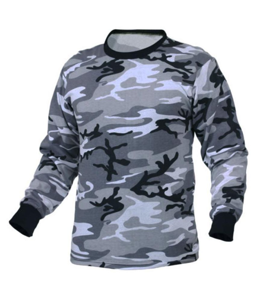 INCERUN Men Autumn Winter Long Sleeve Camouflage Round Neck T-shirts S-3XL