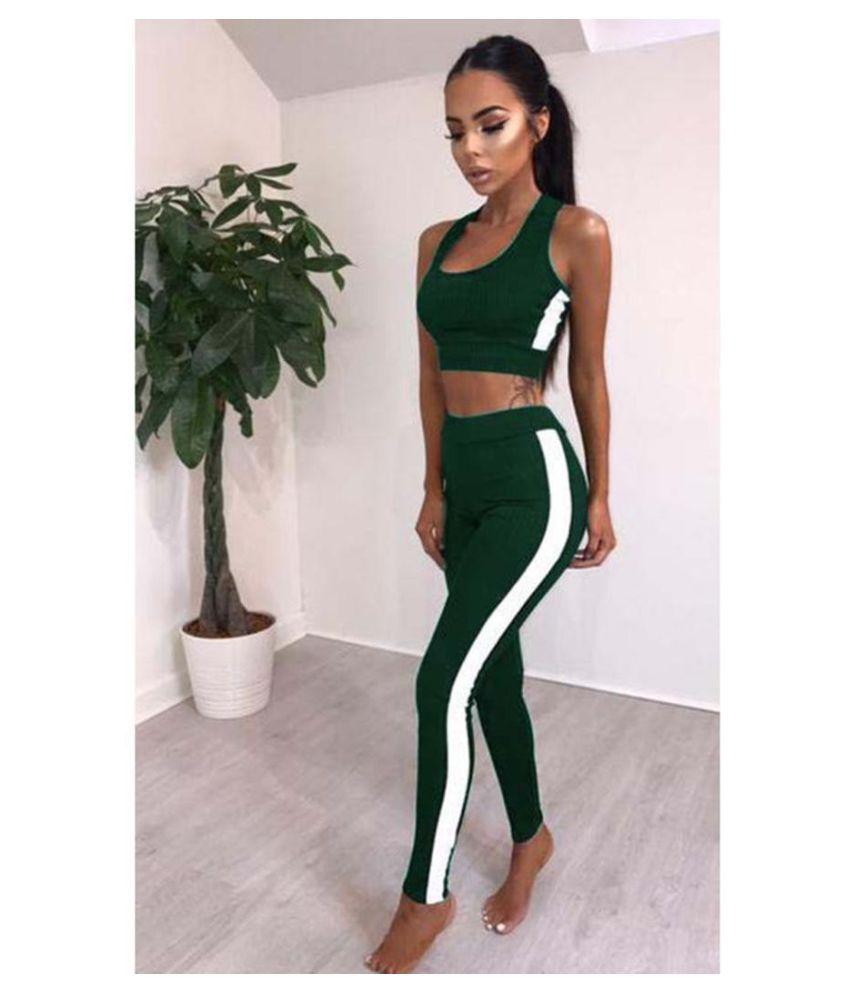 Women Gym Yoga Vest Bra And Sports Legging Pants Ladies Outfit Wear