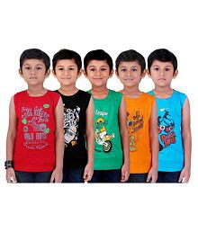 4d0135a291e5 Quick View. Kiddeo Kidwear Sleeveless Round Neck T-Shirts For Boys