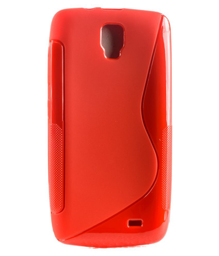 low priced cadc8 6364e Micromax Bolt Q333 Plain Cases Video Tronix - Red