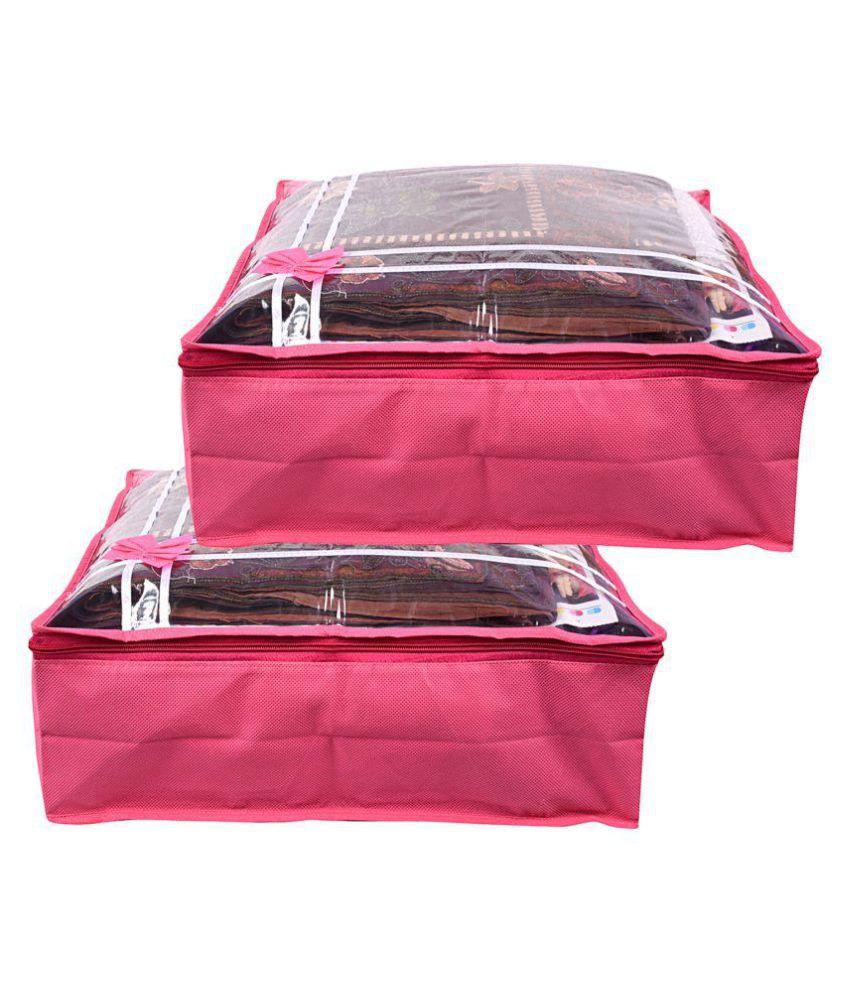 Wow Pink Saree Covers - 2 Pcs