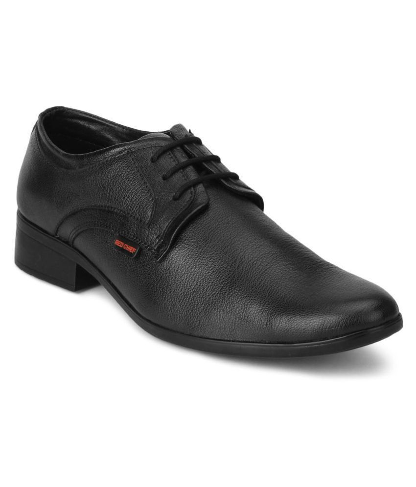 Red Chief Genuine Leather Black Formal Shoes