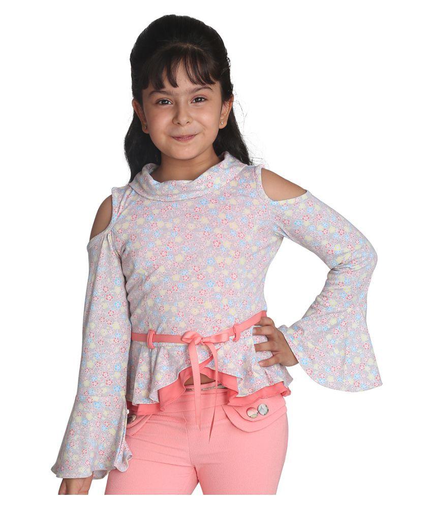 Cutecumber Girls Smart Casual Cotton Knit Top