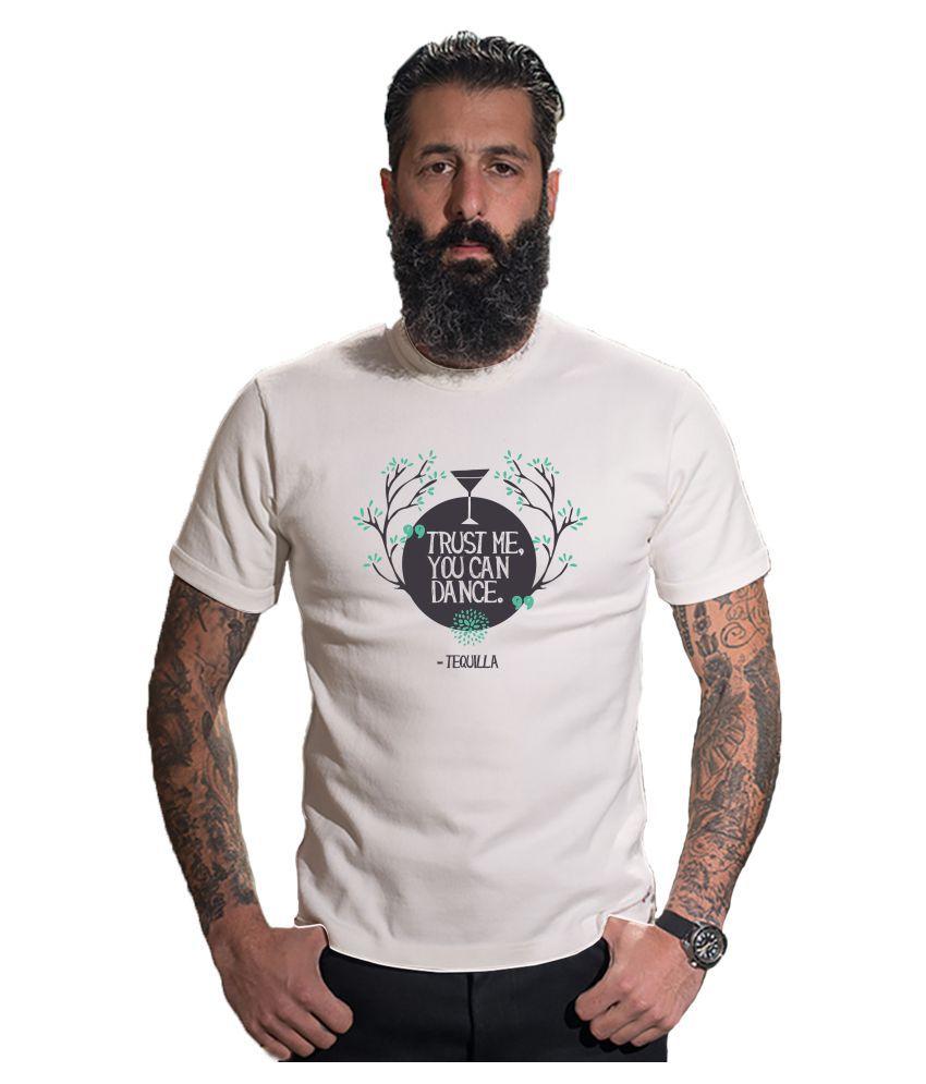Capsula Tees White Half Sleeve T-Shirt Pack of 1