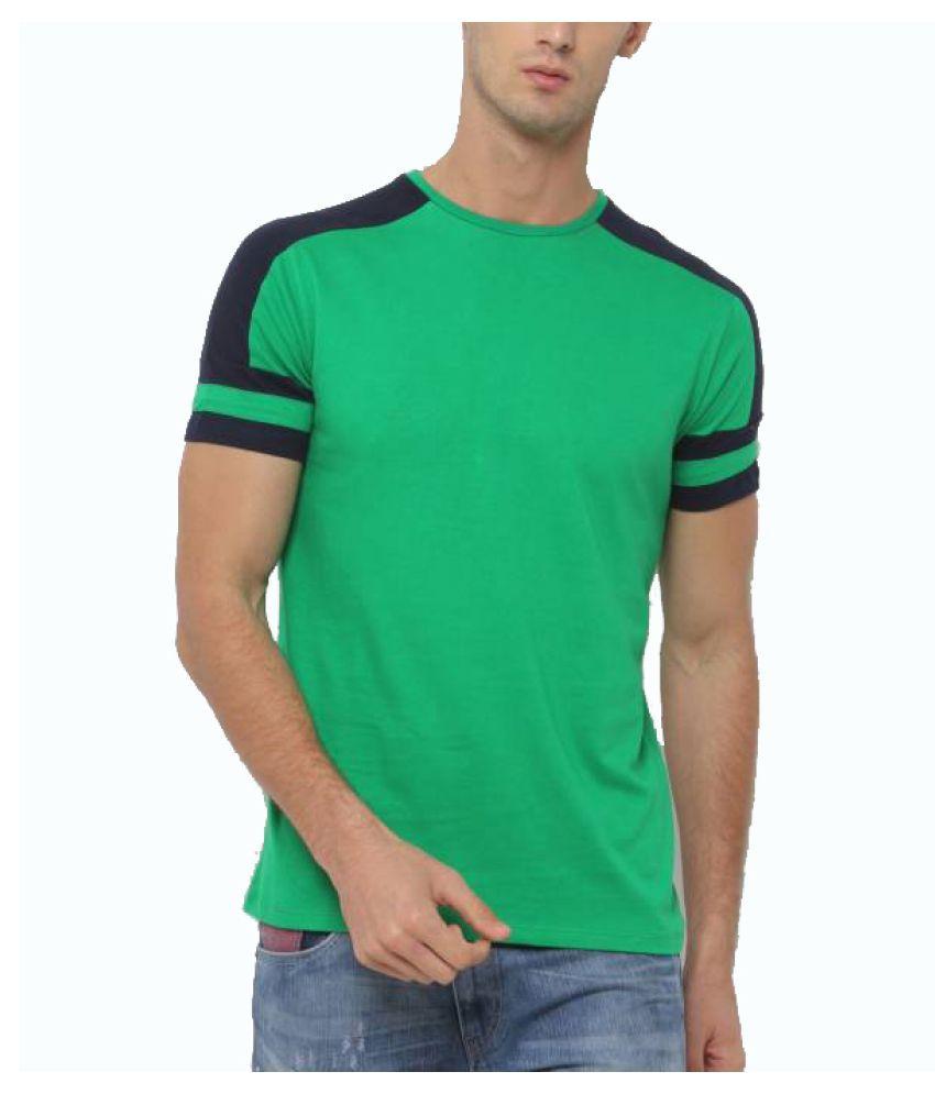 Sayitloud Green Half Sleeve T-Shirt