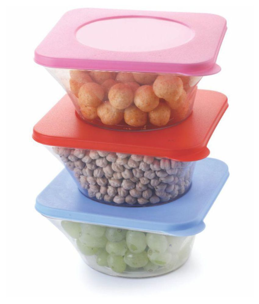 Vittamix Set of 3 Unbreakable Airtight Sensible Polyproplene Food Container Set of 3