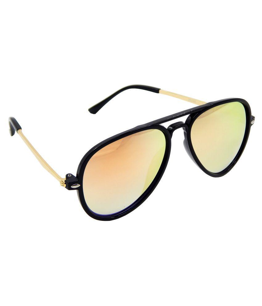 Els Orange Aviator Sunglasses ( 25238-BLGD-ORG-MR-S )