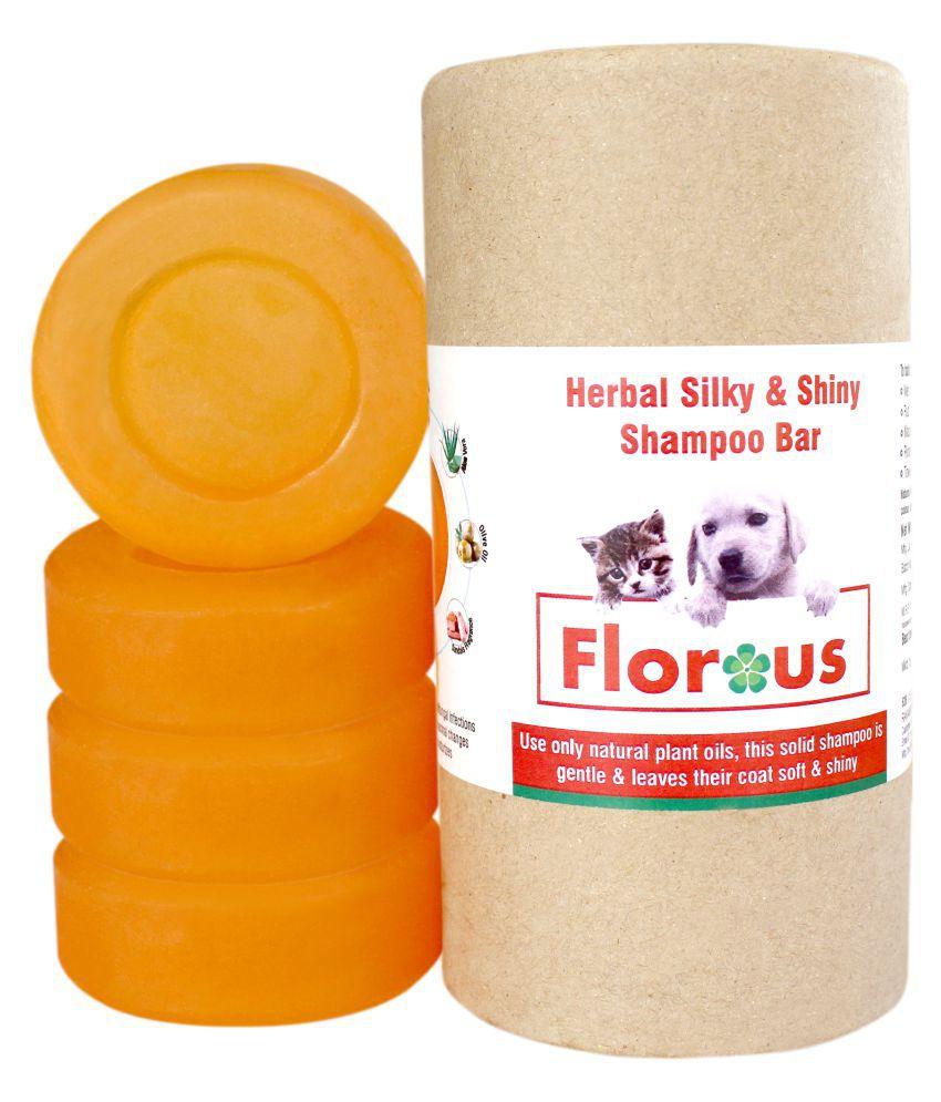 Florous Herbal Silky & Shiny Shampoo Bar (4 x 100 gm ,400 gm, pack of 4)