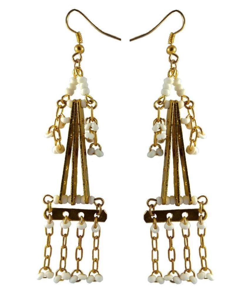 abhisu antique jewellery Hand Made Pearl earrings Created by Abhisu Antique Jewellery for traditional party wear