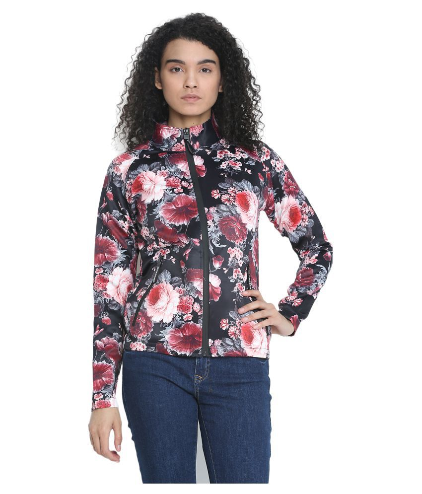 CHKOKKO Women's and Girls Scuba Floral Printed Designed Coat Blazers Jacket with Pockets for Winter