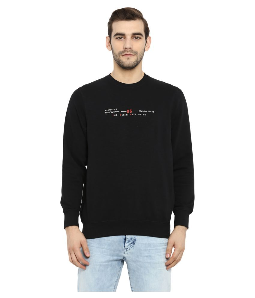 Monte Carlo Black Full Sleeve T-Shirt