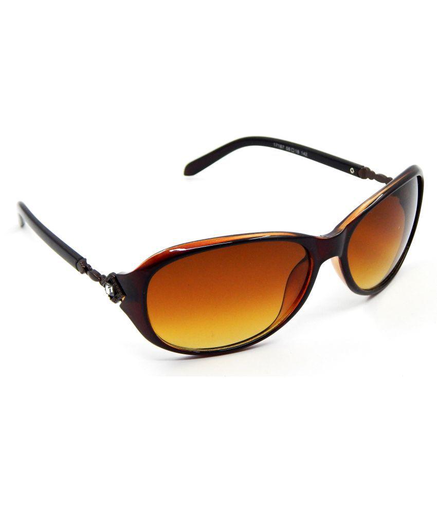 Els Brown Butterfly Sunglasses ( ASSET-17187-BR-BRN-S )