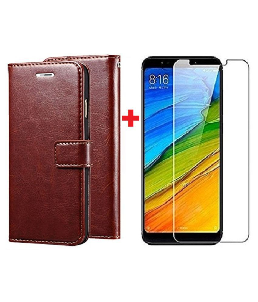 Huawei Honor 7C Cover Combo by VinyakMobile Vintage Leather Flip