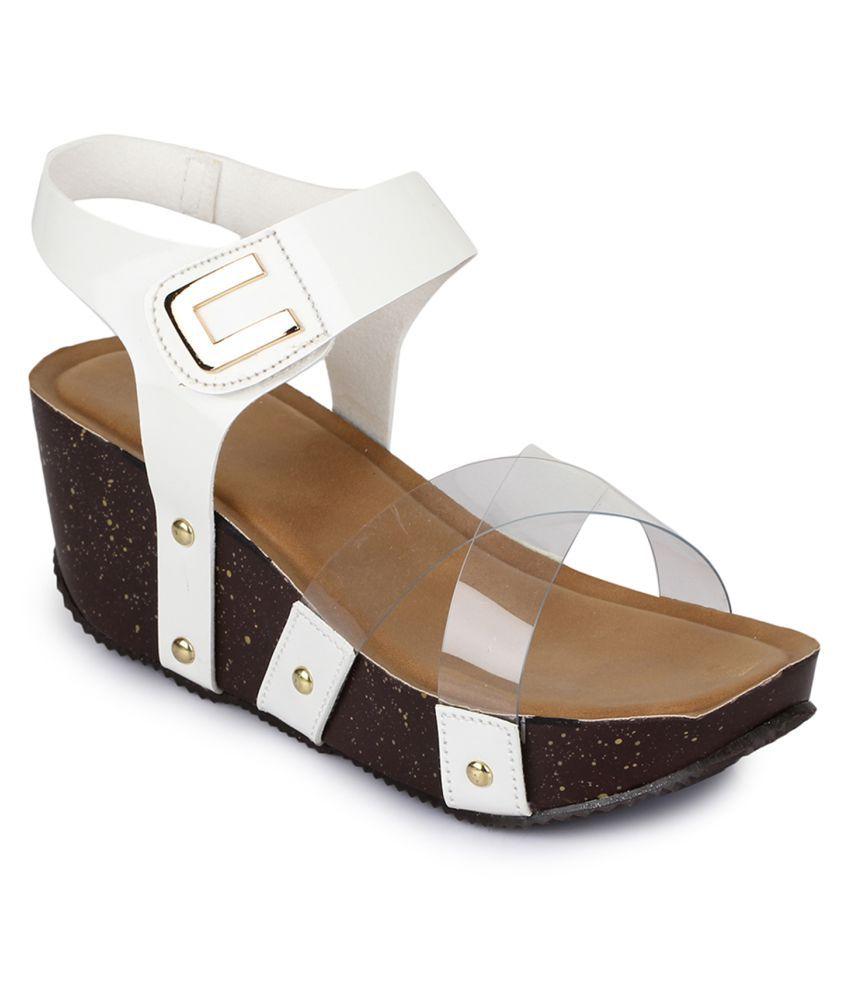 Sapatos White Wedges Heels