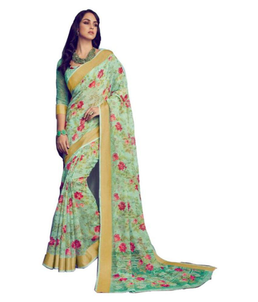 bc052dd820 Shangrila Designer Green Organza Saree - Buy Shangrila Designer Green Organza  Saree Online at Low Price - Snapdeal.com