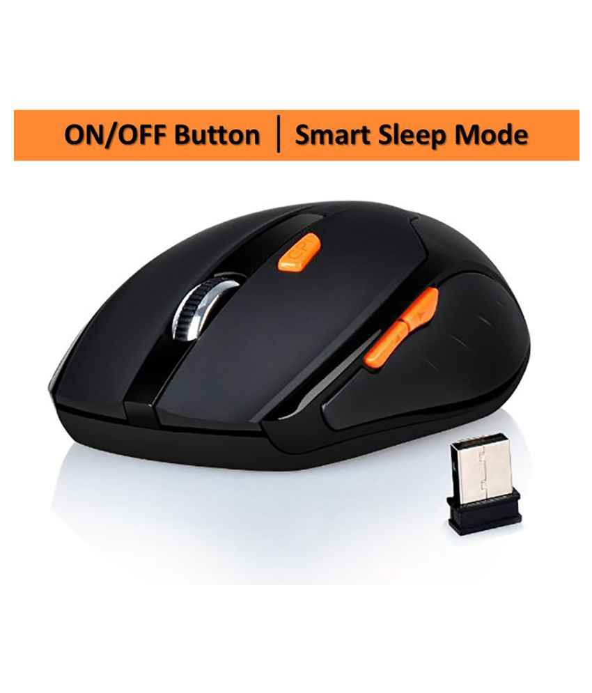 ABRONIX 2.4G Optical Wireless Mouse with 6 buttons Nano USB Receiver,Ergonomic Mouse, Highly Durable