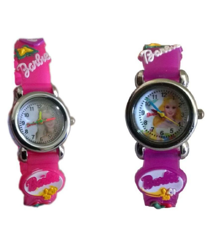 0ecc5089e Barbie analog purple and pink colour for kids girls watch pack of 2 Price  in India  Buy Barbie analog purple and pink colour for kids girls watch  pack of 2 ...