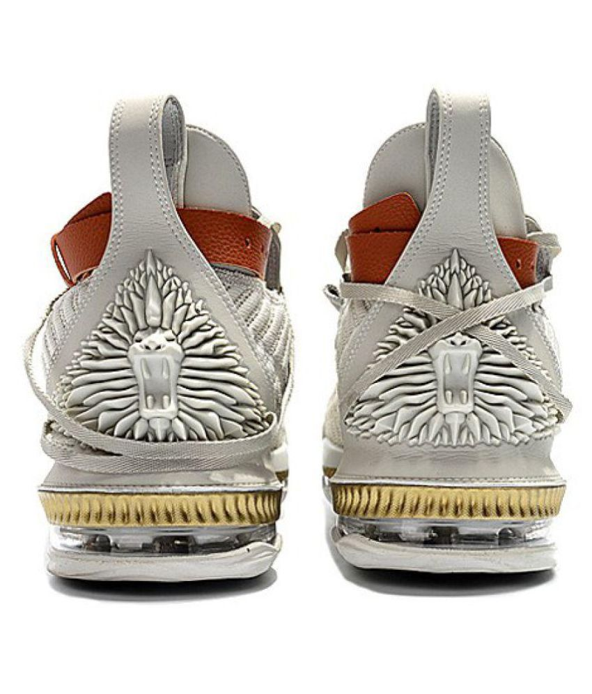 timeless design 9b10b fe240 Nike LEBRON 16 HFR White Basketball Shoes