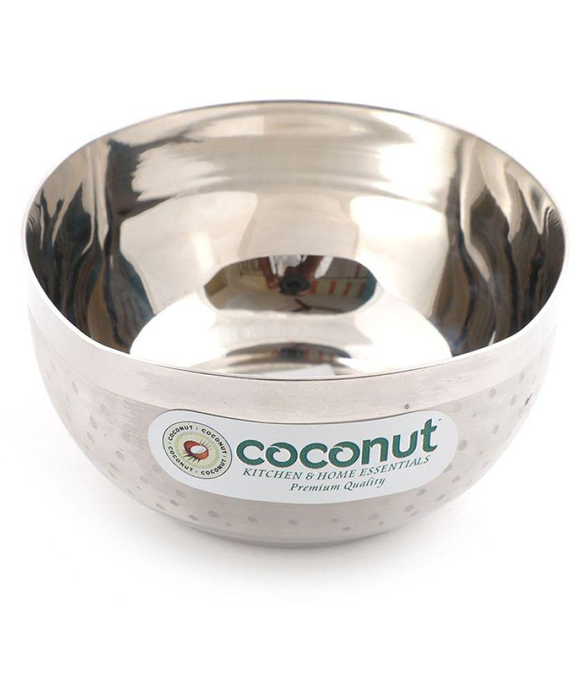 Coconut 6 Pcs Stainless Steel Snacks Bowl 250 ml