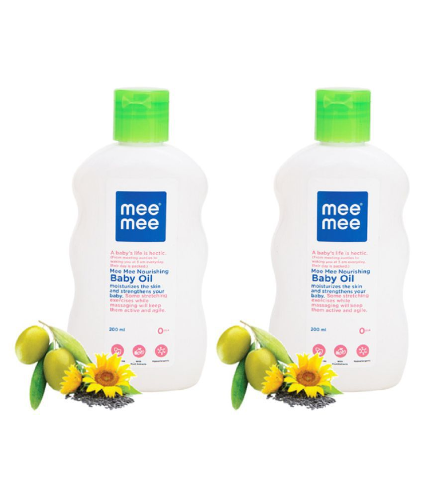 Mee Mee Baby Oil with Fruit Extracts- 200 ml Pack of 2