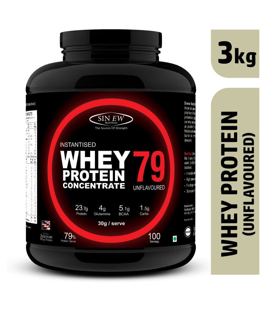 Sinew Nutrition Raw Whey Protein Concentrate 79% (Unflavoured) 3 kg