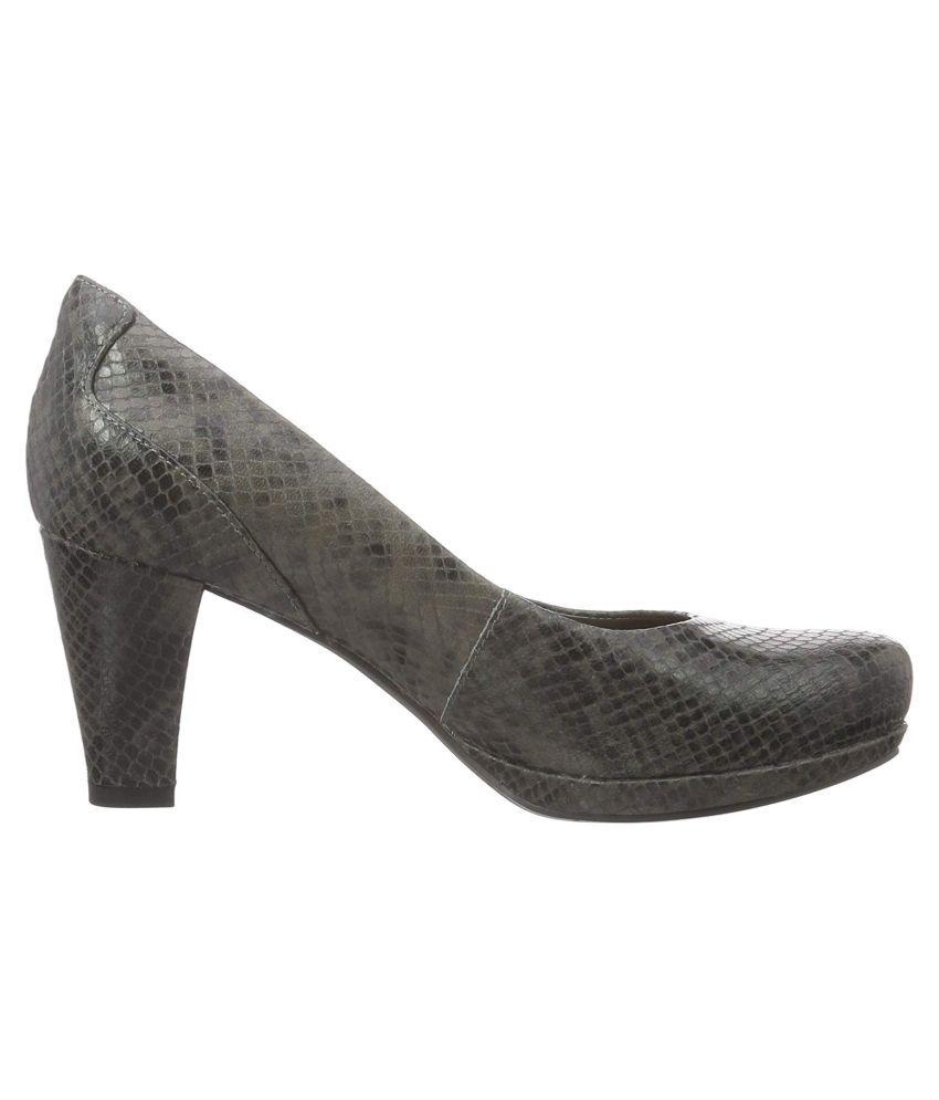 Clarks Gray Cone Heels