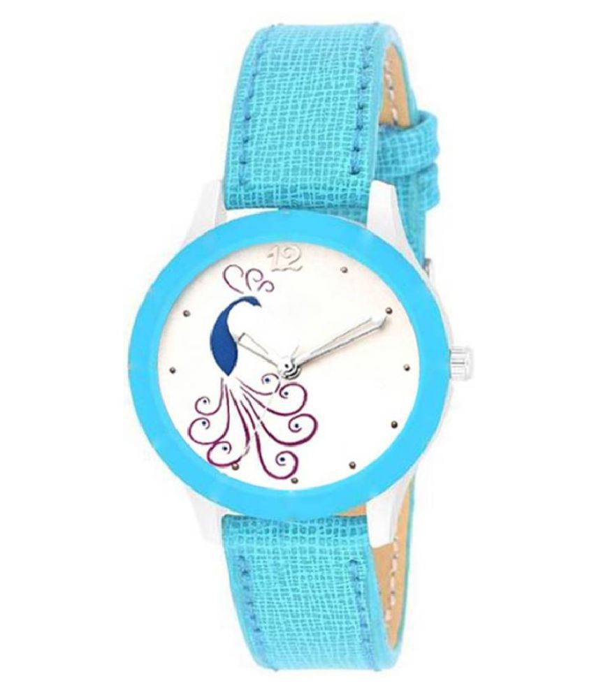 FEURATE Leather Round Womens Watch