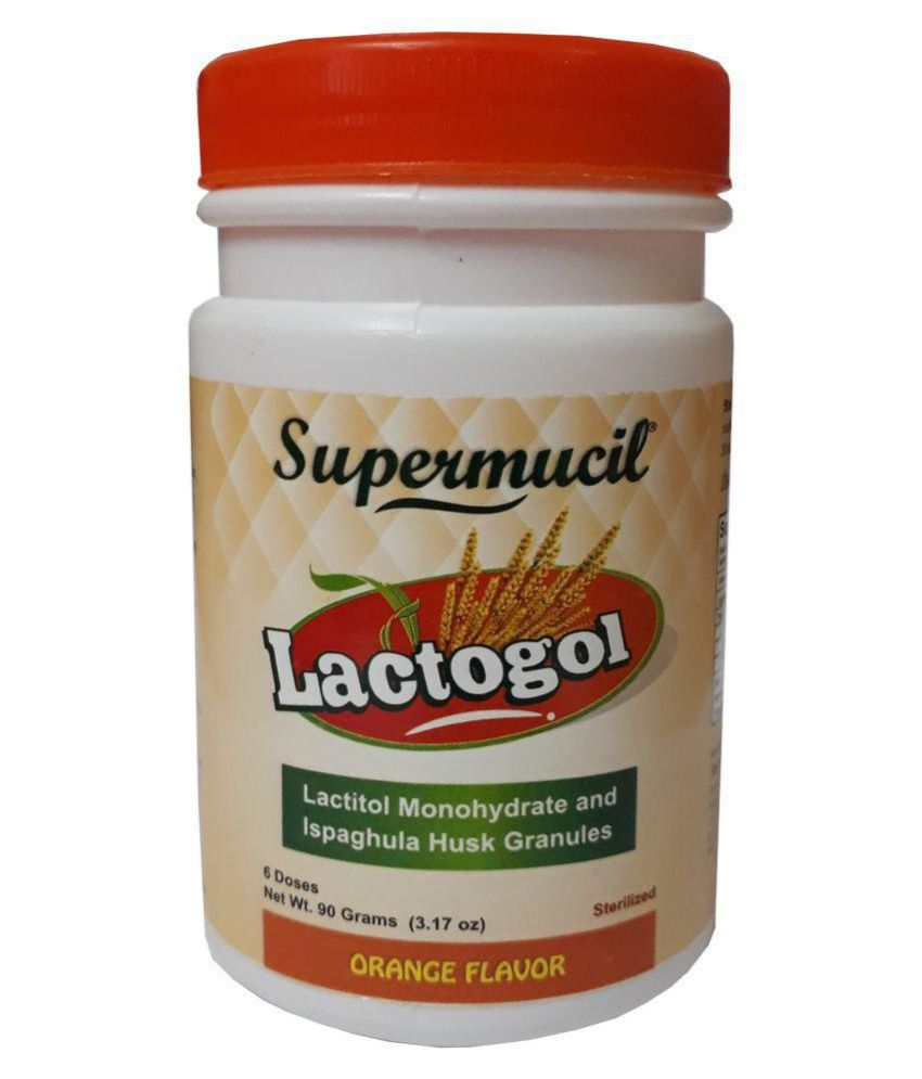 SUPERMUCIL LactoGol: Lactitol Monohydrate with Ispaghula : 270 Gms Powder 90 gm Pack of 3