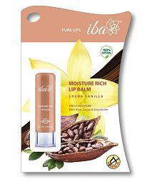 Iba Halal Moisture Rich Lip Balm Cocoa Vanilla 4.5 gm