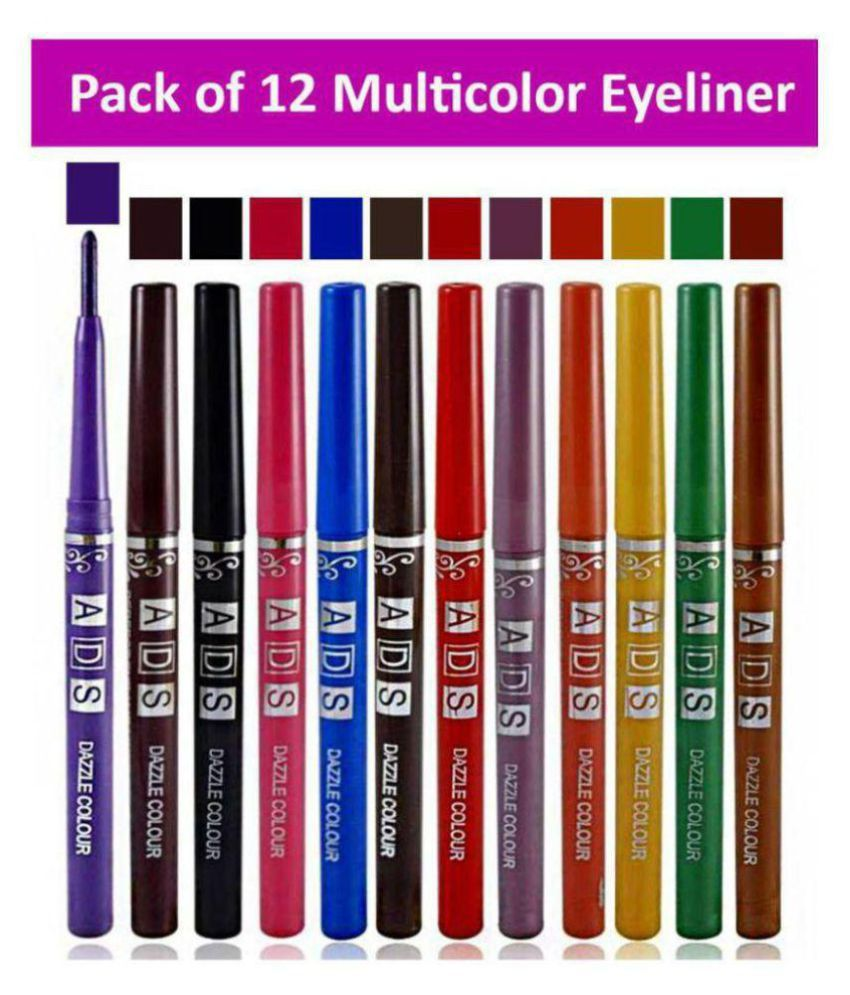 Rabcom Pencil Eyeliner ADS Multicolor Eyeliner set of 12 3