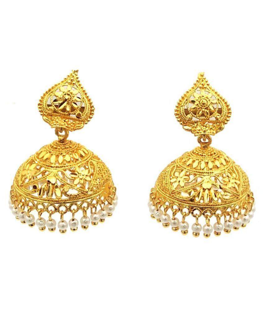 ff0cdc209 Jevascot Gold Plated White Pearl Jhumki Earrings For Girls & Women - Buy  Jevascot Gold Plated White Pearl Jhumki Earrings For Girls & Women Online  at Best ...