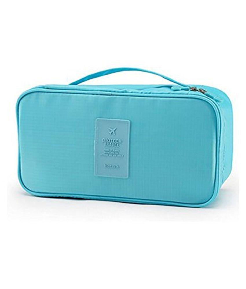 Kanha Blue Multifunctional Bra Underwear Organizer Bag
