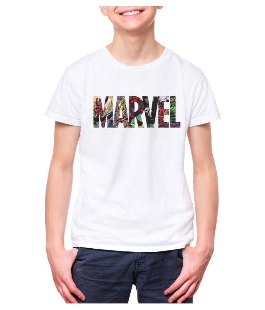 NUTSPIN MARVEL Printed Tshirt for Boys