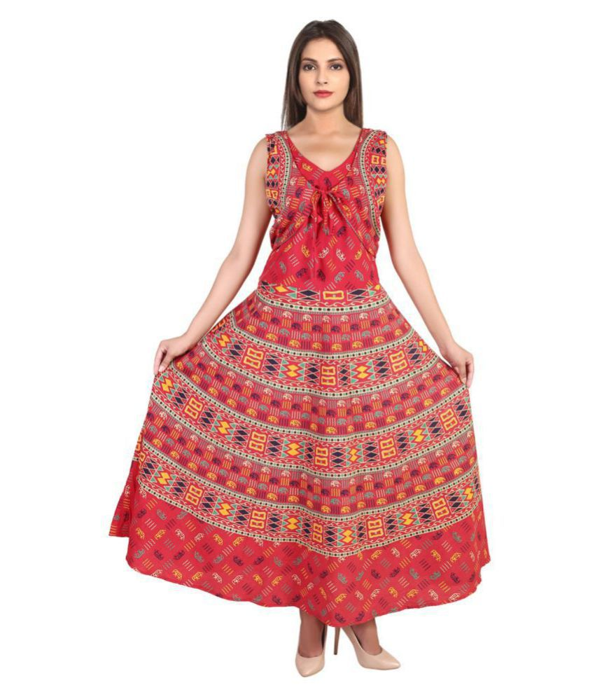 eba278ad3b52 Magnus Cotton Red A- line Dress - Buy Magnus Cotton Red A- line Dress Online  at Best Prices in India on Snapdeal