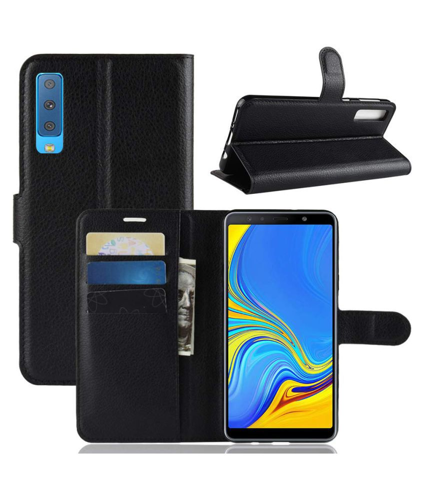 Samsung Galaxy A7 2018 Flip Cover by Excelsior - Black