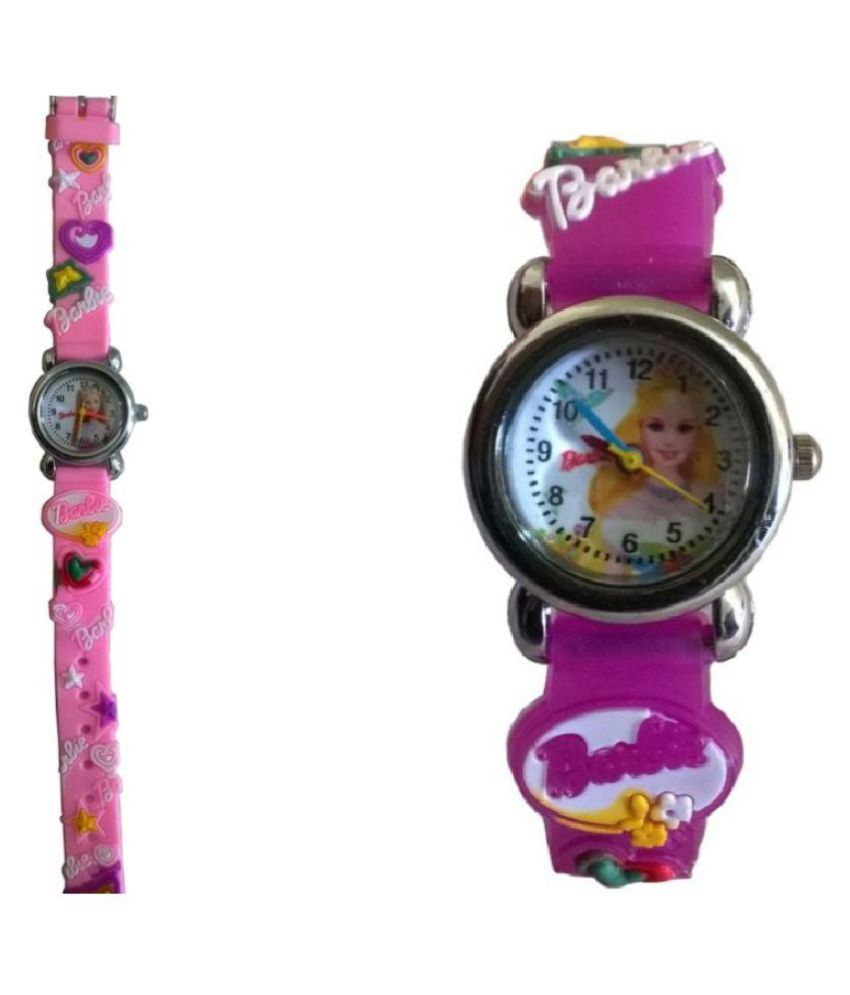 03490117726 Barbie analog purple and baby pink colour kids girls watch Price in India   Buy Barbie analog purple and baby pink colour kids girls watch Online at  Snapdeal