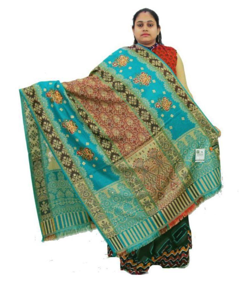 Vrinde Multicoloured Sozni embroidery Shawl