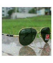 Buy & Try Green Aviator Sunglasses ( 3517 )