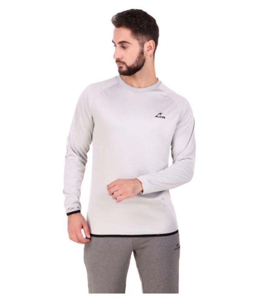 Alcis White Polyester Fleece Sweatshirt Single Pack