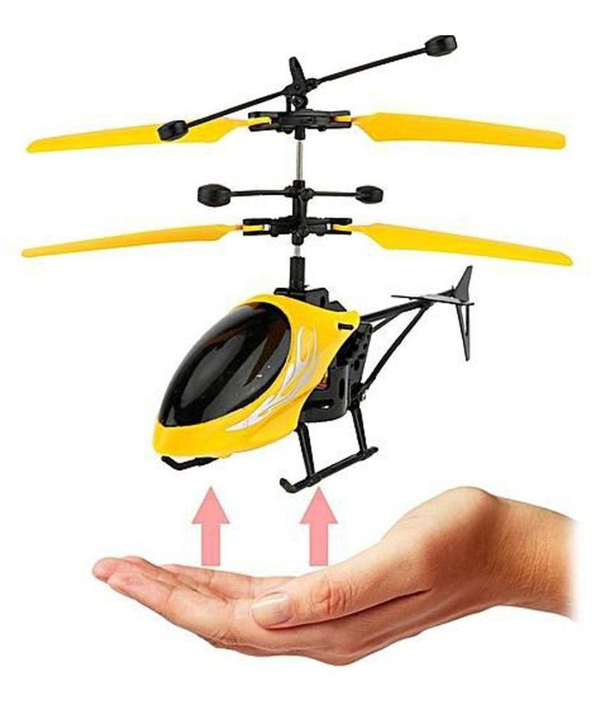 Ecocare Hand Induction Control Flying Helicopter with Infrared Sensor, USB Charger and Flashing Light (Color May Vary)