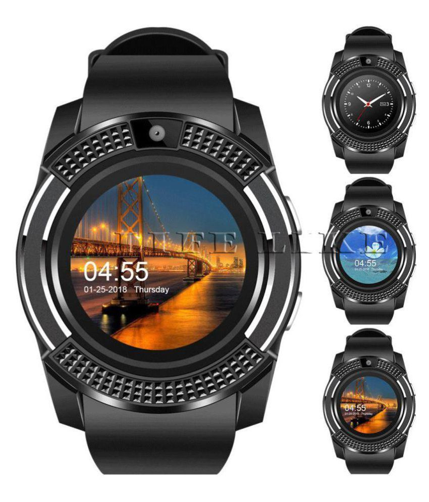 Wearable Smartwatches Online At: Life Like V8 Bluetooth With Sim & Tf Card Slot Smart