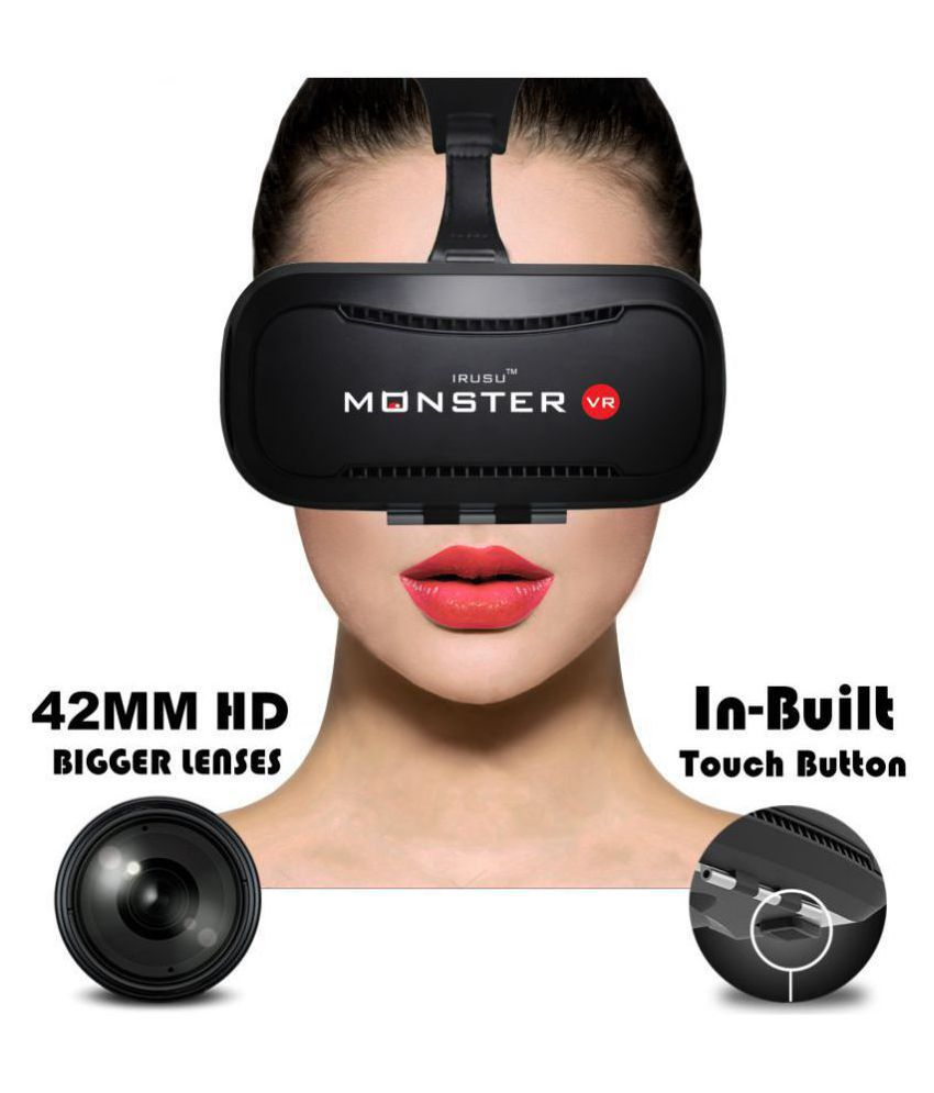 IRUSU VR Box Headset Above 15.5 cm (6) In built touch button