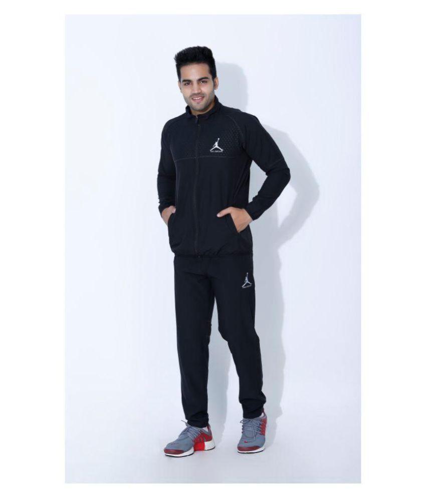 e06e12ca9dd3 Nike Air Jordan Black Polyester Lycra Tracksuits - Buy Nike Air ...