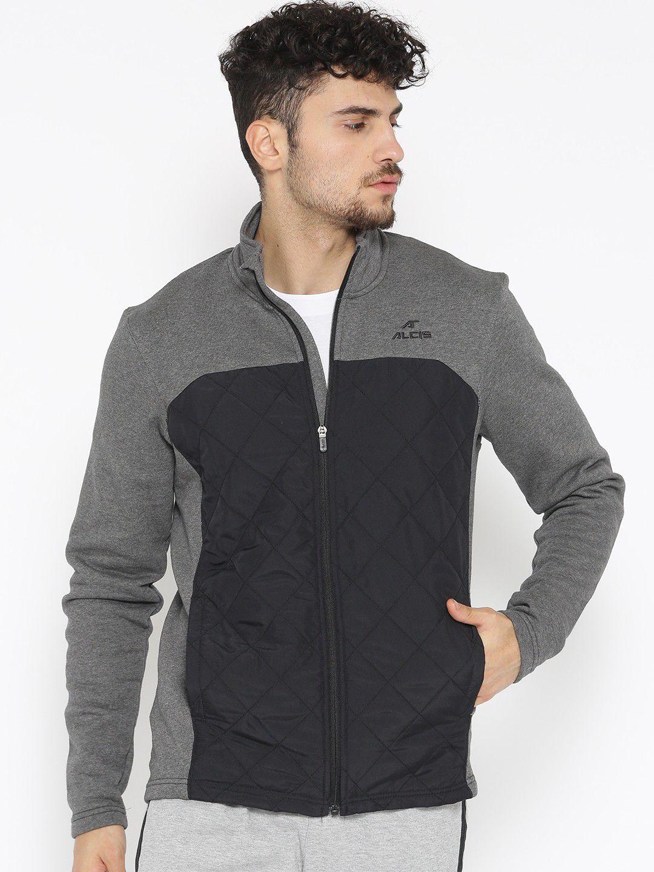 Alcis Charcoal Cotton Polyester Fleece Jacket Single Pack