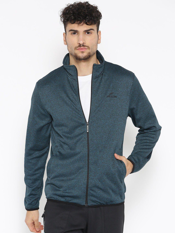 Alcis Dark Green Polyester Fleece Jacket Single Pack