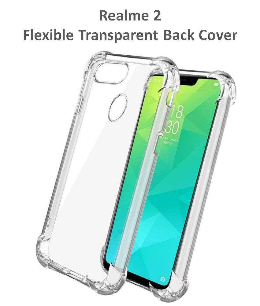 Realme 2 Soft Silicon Cases Bracevor - Transparent