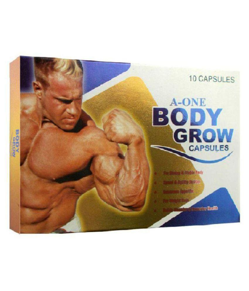 G & G A One Body Grow Capsule 10x10= 100 no.s Mass Gainer Tablets