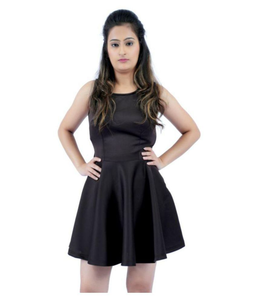 KONINK Scuba Black Fit And Flare Dress