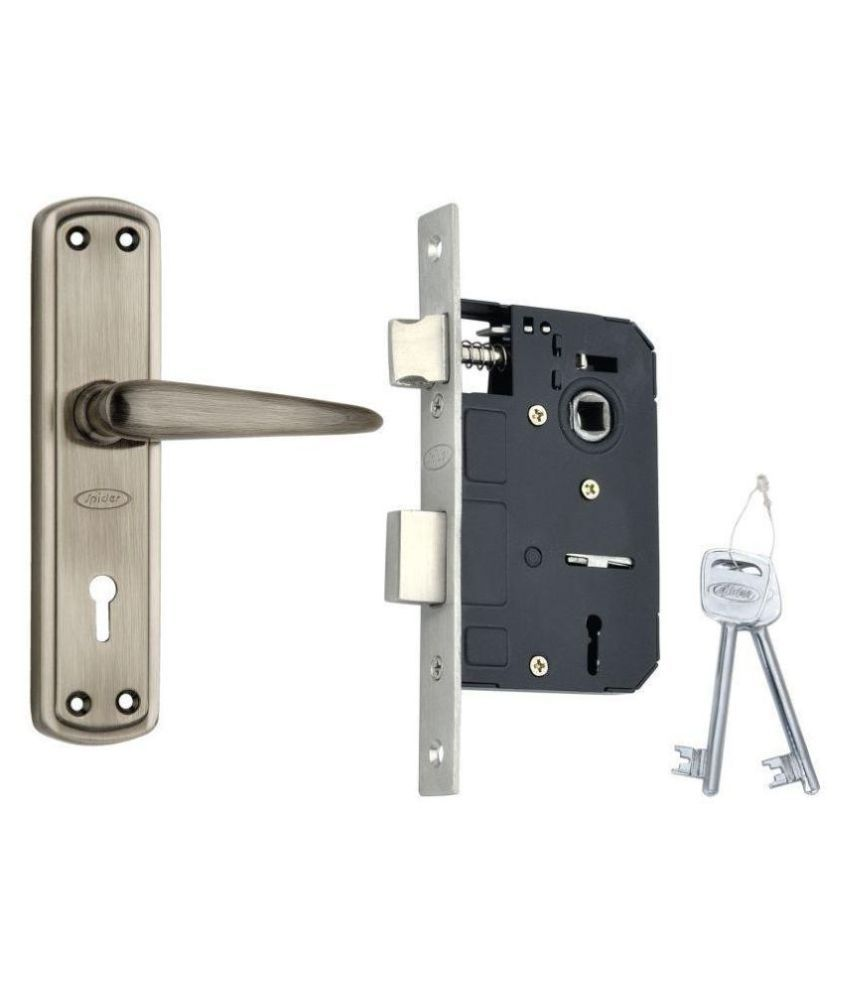 Spider Steel Mortice Key Lock Complete Set With Antique Black Finish (S811MAL + RML4)