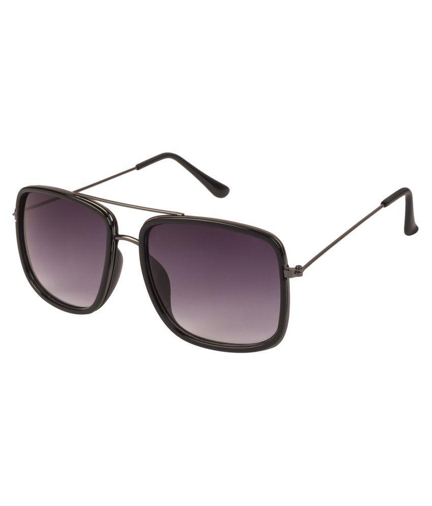 LOF Black Rectangle Sunglasses ( LS-8004 )